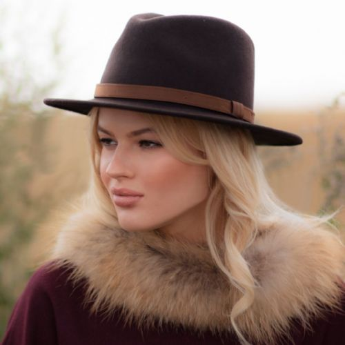 Fedora Hat  with Leather Band - Haydock